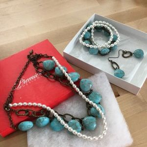 Necklace, Bracelets, Earrings Set-Premier Designs